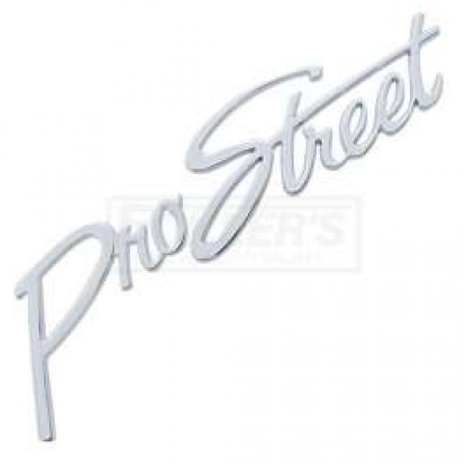 Chevy Pro Street Script Emblem, Chrome, 1955-1957