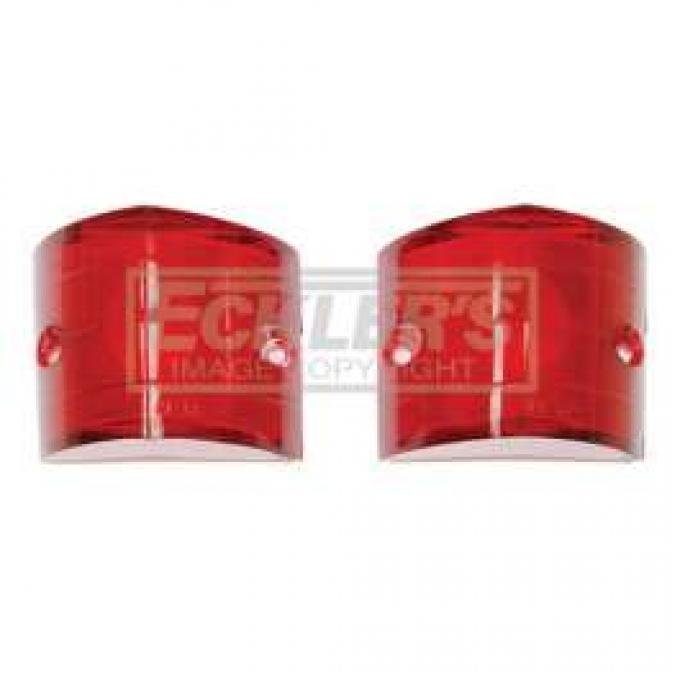 Chevy Lenses, Back Up, Red, 1956
