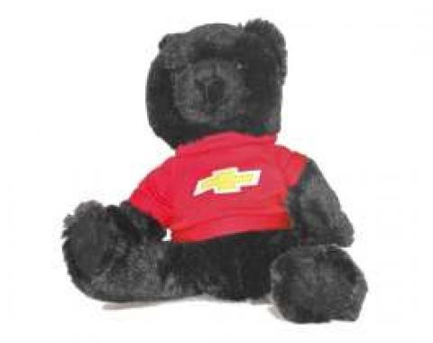 Chevy Themed Plush Stuffed Black Teddy Bear
