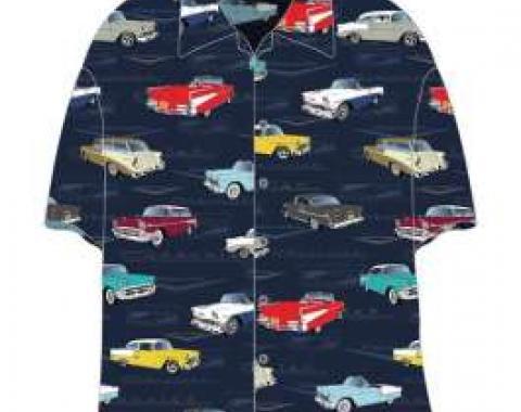 Chevy Camp Shirt, Tri-Five, 1955-1957, 2X-Large