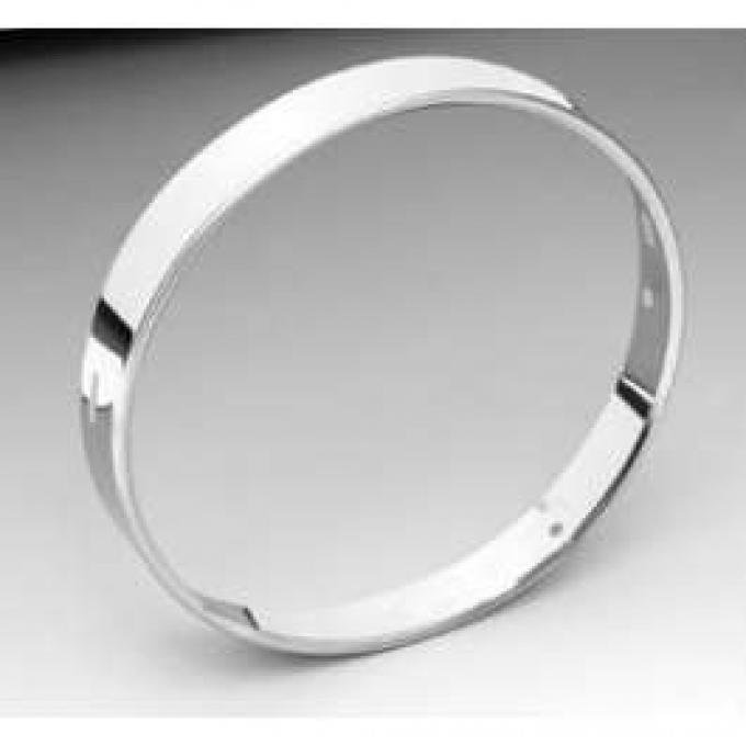 Chevy Headlight Retainer Ring, Stainless Steel, 1955-1957