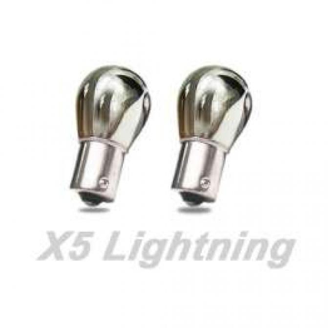 Light Bulbs, 1156, Chrome X5 Lightning Amber Silver Stealth