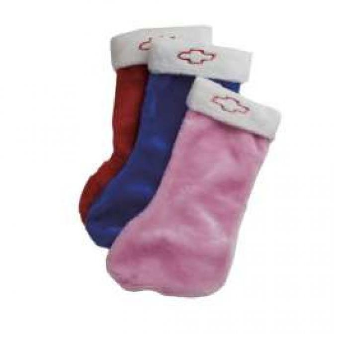 Chevy Christmas Stocking, With Bow Tie Logo, Blue