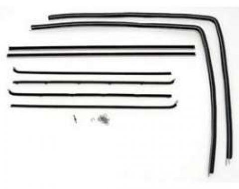 Chevy Door Glass Window Felt Kit, Sedan Delivery, 150 2-Door Wagon Or 150 Utility Sedan, 1955-1957