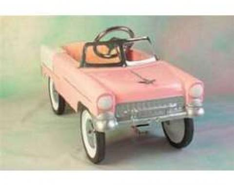 Pedal Car, All Steel, Coral, White