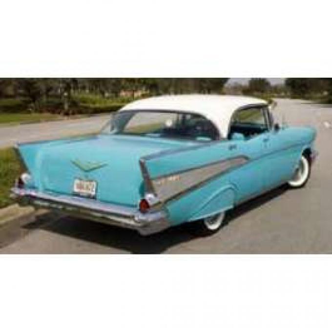 Chevy Rear Glass, Clear, 4-Door Hardtop, 1956-1957