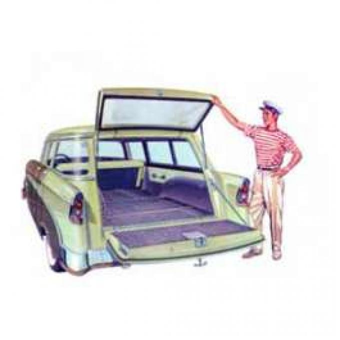 Chevy Rear Liftgate Glass, Tinted, Wagon & Sedan Delivery, 1955-1957