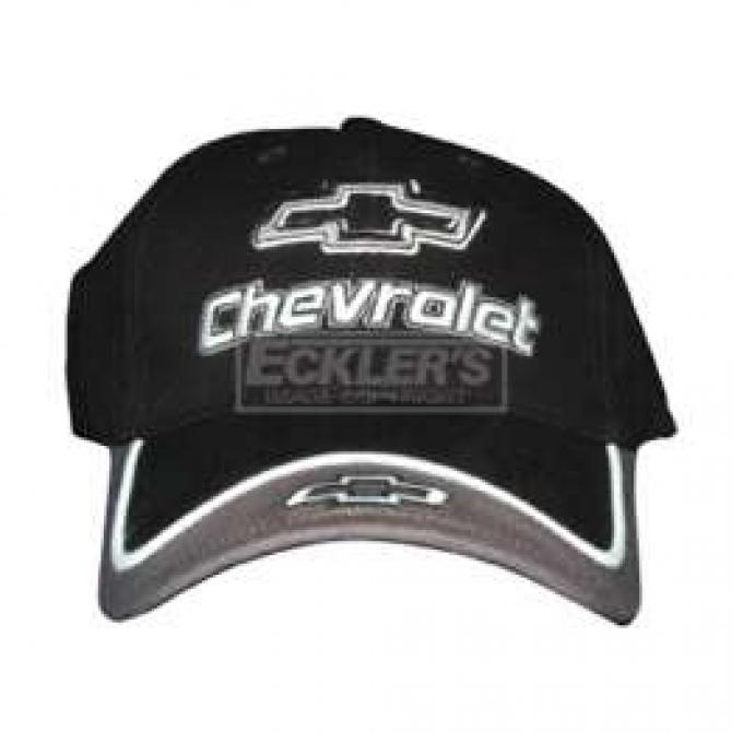 Chevy Cap, With Embroidered Chevrolet Bowtie & Script, Gray