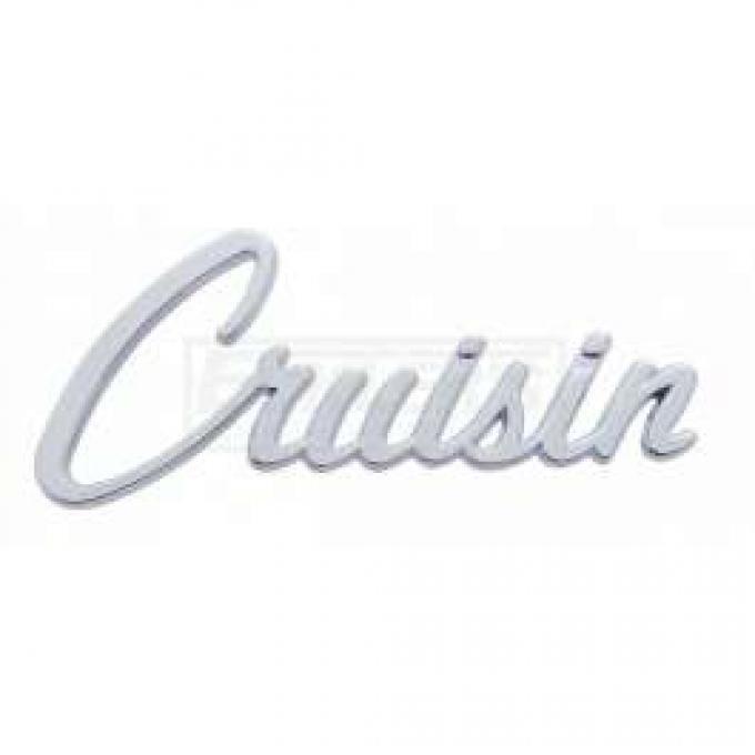 Chevy Cruisin Script Emblem, Chrome, 1955-1957
