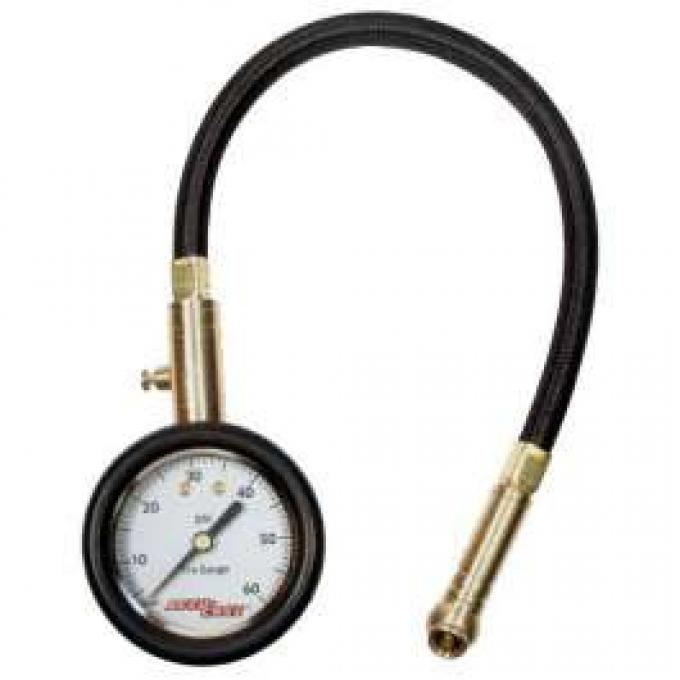 Competition Tire Gauge, Deluxe 0-60 PSI (With Hose and Bleeder)