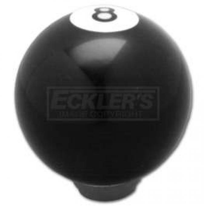 Chevy Gear Shift Knob, Black 8 Ball, 1955-1957
