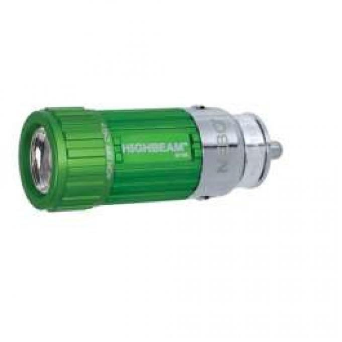 LED Rechargable Flashlight For Car Lighter, Green