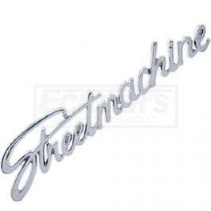 Chevy Street Machine Script Emblem, Chrome, 1955-1957