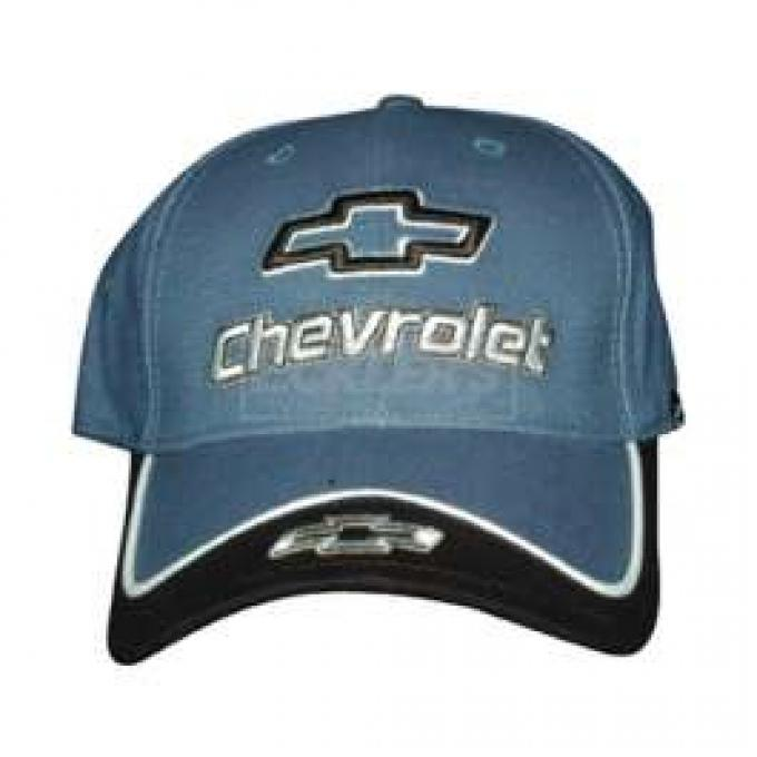 Chevy Cap, With Embroidered Chevrolet Bowtie & Script, Blue