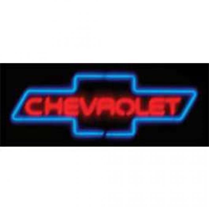 Chevy Neon Sign, Chevrolet Bowtie