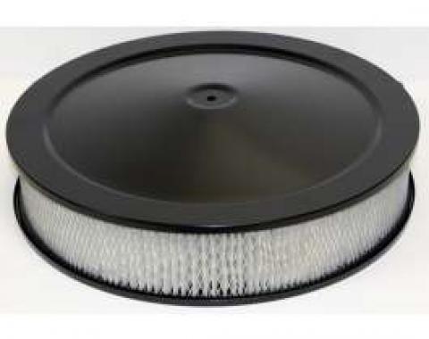 Chevy Air Cleaner, Round Black, 14 X 3