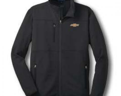 Chevy Jacket, Zippered Pique Fleece, Black