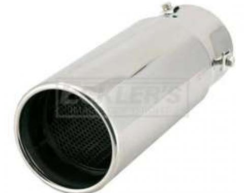 Early Chevy Spectre Performance Exhaust Tip, 4 Inch Straight Tip, 1949-1954