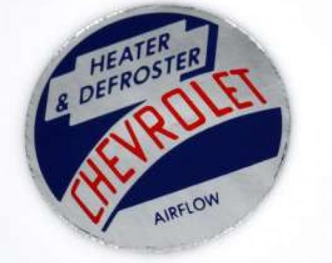 Chevy Heater Flow Tag, 1953