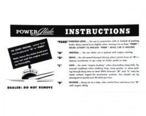 Chevy Sunvisor Sleeve, Transmission And Parking Brake, 1949-1954