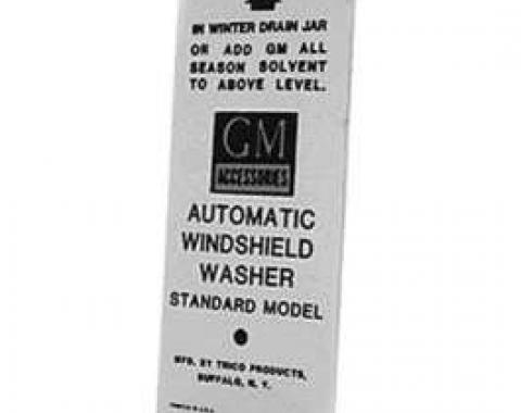 Chevy Decal, Windshield Washer Basket, 1951-1954