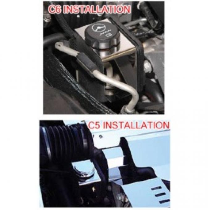 Corvette Power Steering Reservoir Housing Cover, Stainless Steel, 1997-2013