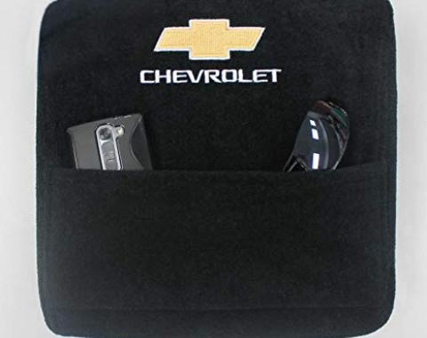 Seat Armour Chevrolet, Bucket Seat, 2014-2017,  Konsole Cover™ with Pocket, Black, KACHV14-17