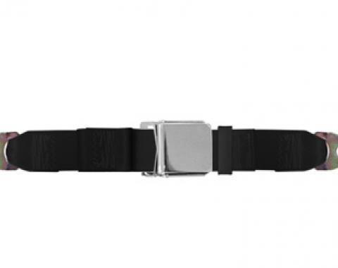 "Universal Lap Belt, 60"" with Chrome Lift Latch"