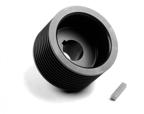 Weiand/Holley Pulley, Supercharger, Serpentine, Steel, Black, 10-Groove, 2.66 Inch Diameter (ND)