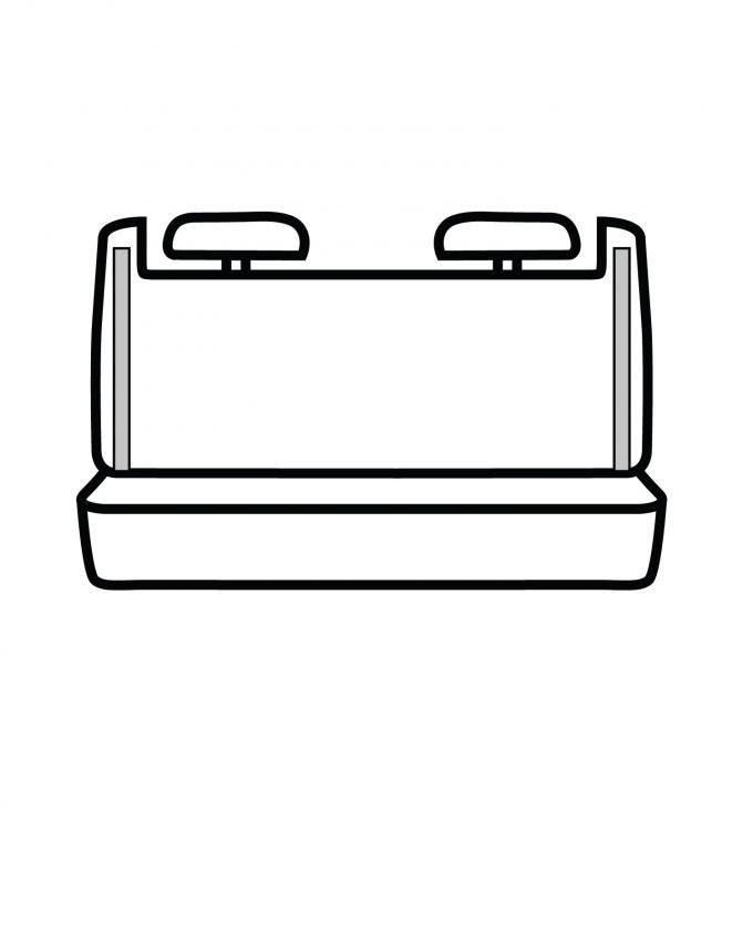 Covercraft SeatSaver Custom Seat Cover, Waterproof Grey SS8303WFGY