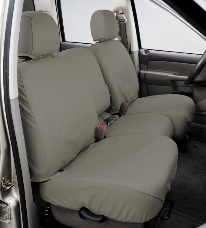 Covercraft 2016-2019 Ford Explorer SeatSaver Custom Seat Cover, Polycotton Misty Grey SS7478PCCT