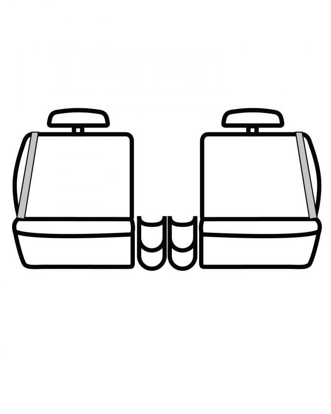 Covercraft SeatSaver Custom Seat Cover, Waterproof Grey SS7380WFGY
