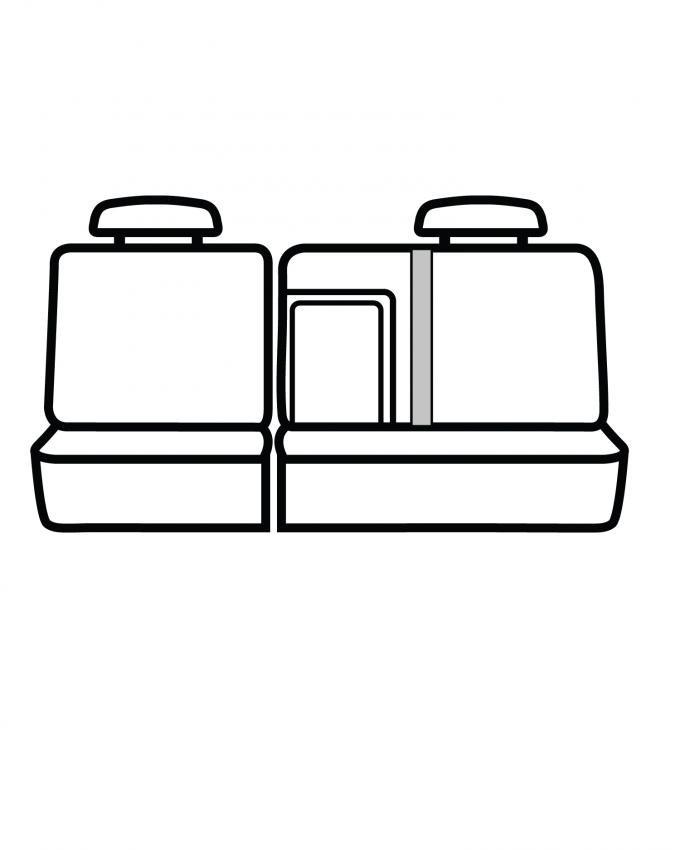 Covercraft SeatSaver Custom Seat Cover, Waterproof Grey SS7493WFGY