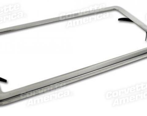 Corvette License Plate Frame, Stainless Steel, 1963-1975