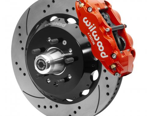 Wilwood Brakes Forged Narrow Superlite 6R Big Brake Front Brake Kit (Hub) 140-15554-DR