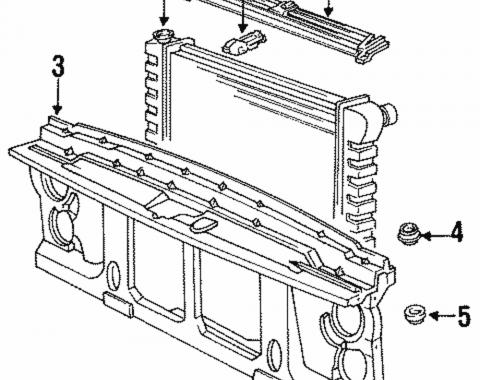 Chevy & GMC Truck Bracket, Radiator Support, Lower Left & Right, NOS 1985-1991