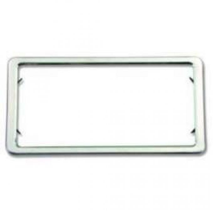License Plate Frames, Stainless Steel