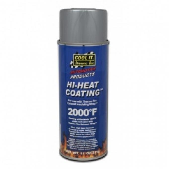Thermo-Tec Hi-Heat Exhaust Wrap Coating, Aluminum
