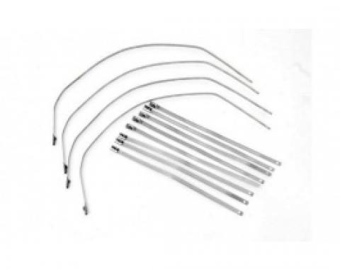 Exhaust Wrap, Stainless Steel Locking Ties