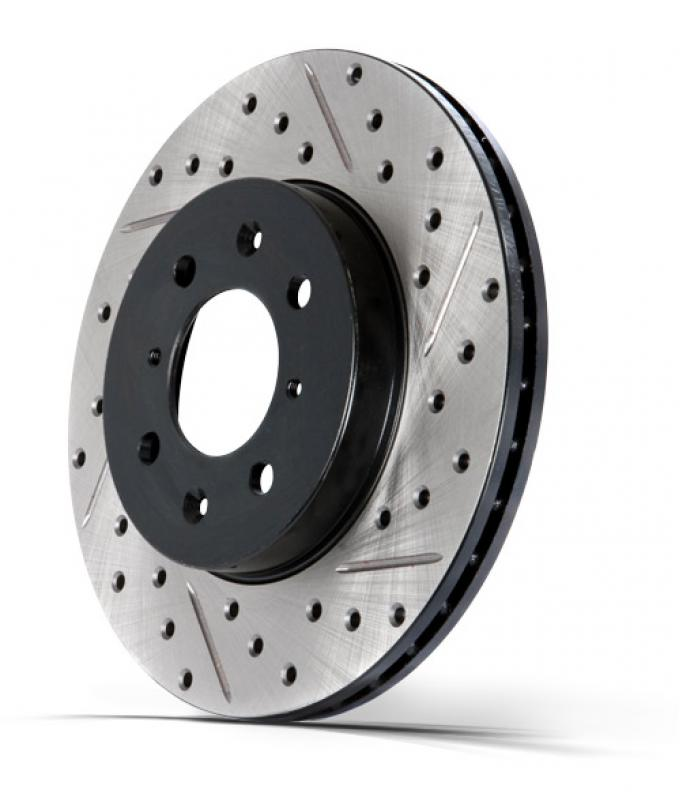 Stop Tech / Power Slot 127.65119R, Brake Rotor, SportStop (R) Drilled And Slotted, One Piece Design, Wheel Bolt Pattern 6 x 135 Millimeter, 350 Millimeter Outside Diameter x 49.5 Millimeter Height x 34 Millimeter Nominal Thickness