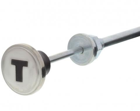 United Pacific Stainless Steel Throttle Cable With Maroon Knob For 1947-53 Chevy Truck C475301