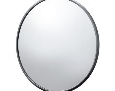 "United Pacific 5"" Ribbed Mirror Head, Black C477201"