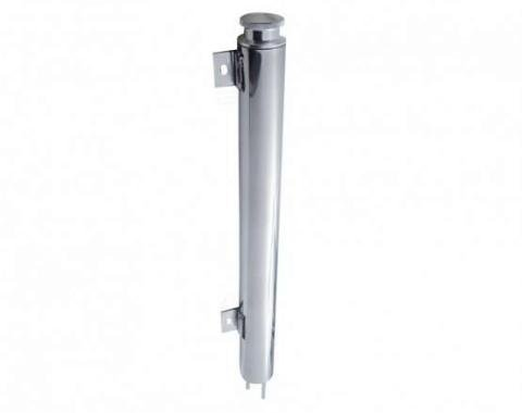 """United Pacific 19"""" Universal Polished Stainless Steel Radiator Overflow Tank A6127"""