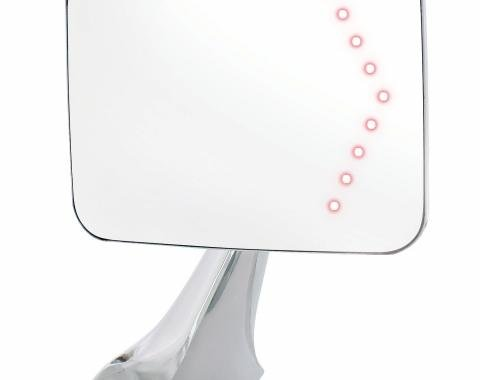 United Pacific Exterior Sport Mirror w/LED Turn Signal For 1970-72 Chevy & GMC Truck - R/H C707202-LED