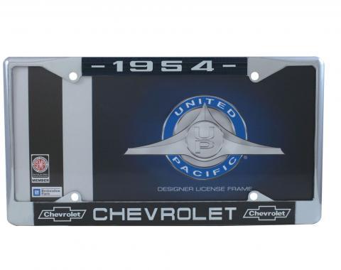United Pacific Chrome License Plate Frame For 1954 Chevrolet Car & Truck C5041-54