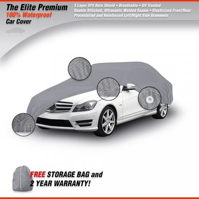 CHEVROLET FULL SIZE CHEVY Elite Premium Waterproof Car Cover, Gray, 1958-1985