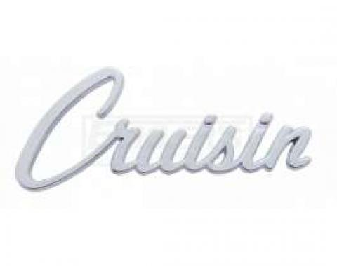 Full Size Chevy Cruisin Script Emblem, Chrome, 1955-1957