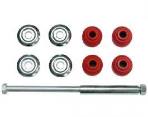 Chevy Sway Bar End Link Set With Red Bushings, Front, 1958-1964