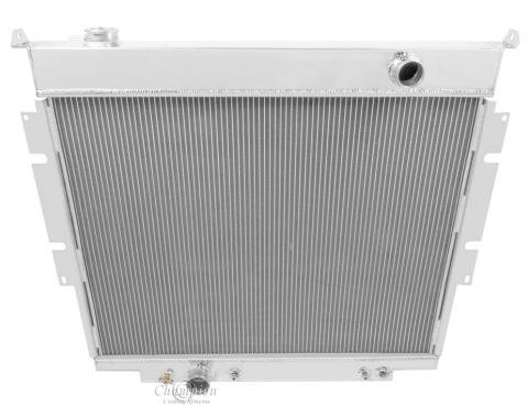 Champion Cooling 4 Row All Aluminum Radiator Made With Aircraft Grade Aluminum MC1165