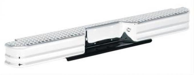 Universal Rear Diamondstep Bumper, Chrome